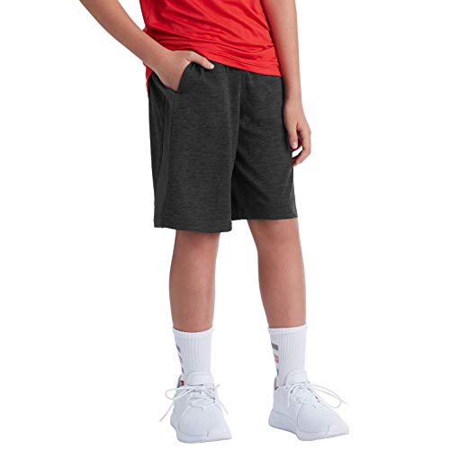 C9 Champion Boys' Heather Shorts-9' Inseam, Ebony, XL