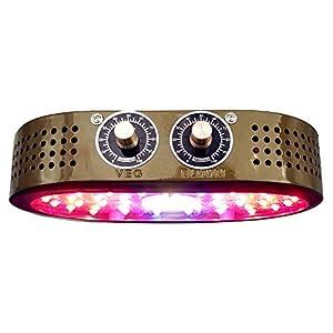 XIHOME 1000W COB LED Lámparas de crecimiento,Luminarias de crecimiento con interruptores giratorios dobles ajustables, regulable para Jardín/Jardinería/Invernaderos y equipos de germinación, Marrone