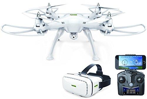 Price comparison product image Promark P70 Drone with 3D VR Goggles and HD Camera,  White