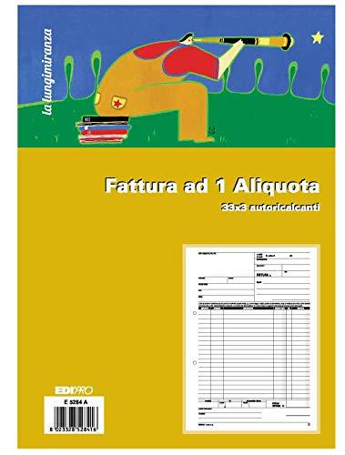 EDIPRO - E5284A - Blocco fattura 1 aliquota 33x3 autoricalcante f.to 29,7x22