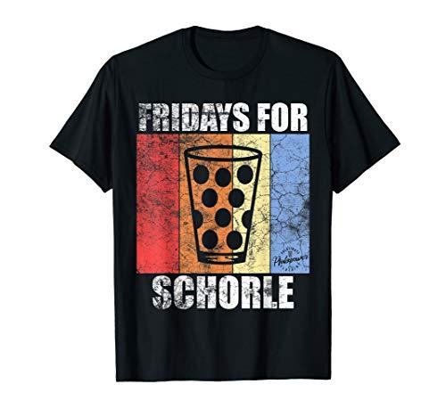 Herren Fridays for Schorle Wein Weinschorle Pfälzer Dubbeglas T-Shirt