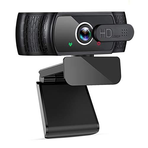 eztechny 1080P Webcam mit Mikrofon, HD USB Computer Webkamera mit Datenschutz Abdeckung, USB 2.0 Plug & Play Streaming-Webcam für Live-Streaming, Videoanrufe, Online-Unterricht, Konferenz, Spielen