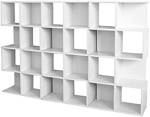 Mendler 3X Modul-Regal Standregal M73, 124x187x28 cm  Weiß