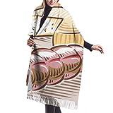 Lsjuee écharpe en cachemire, tapisserie à franges, accessoires pour...