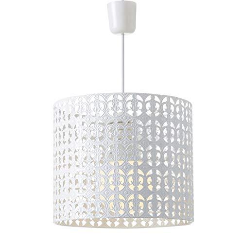Lámpara de techo árabe blanca de metal para cocina Arabia - LOLAhome