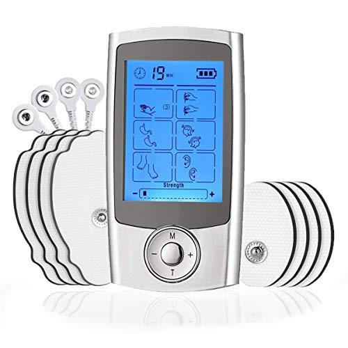 ROOTOK TENS estimulador Muscular masajeador Cuello Espalda electroestimulador Corrientes tens Electroestimulador tens Recargable por USB Pantalla LCD 16 Modo… (1)