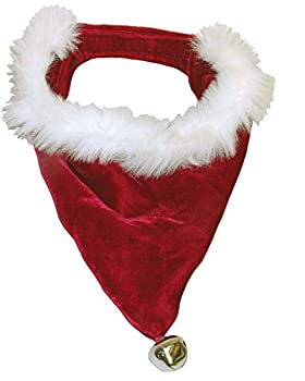 Outward Hound Kyjen 30044 Santa Dog Bandana Holiday and Christmas Accessories for Dogs Small Red