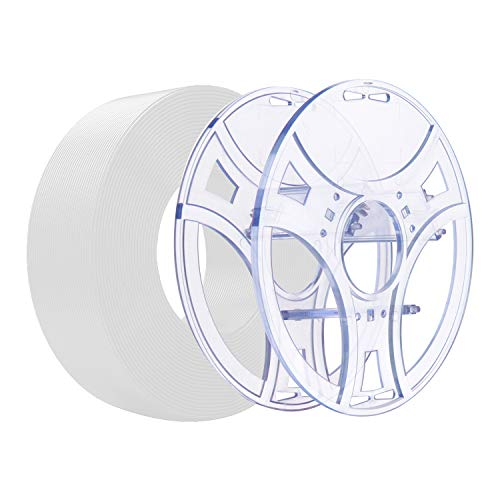 eSUN Kit de Recarga PLA+ y eSpool, Carrete de Filamento Reutilizable y Extraíble para Impresora 3D Recarga de Filamento PLA Plus 1.75mm, 1KG Filamento de Impresión 3D, Blanco Frio