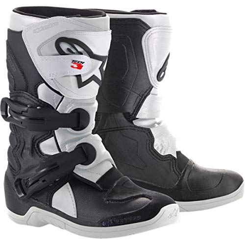 Alpinestars Kids Tech 3S Motocross Boot, Black/White, 1