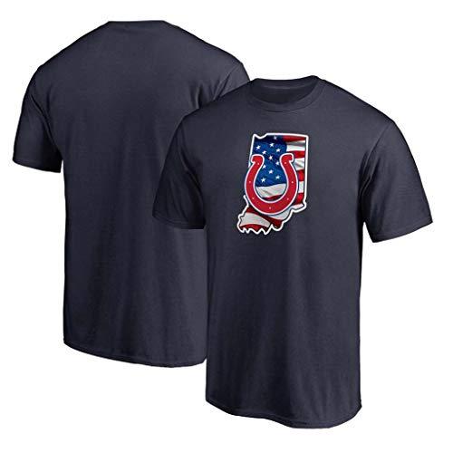 NBJBK Herren Indianapolis Colts Kurzarm Sport Top T-Shirt NFL Fußballmannschaft Uniform Fußball Jersey,E,M