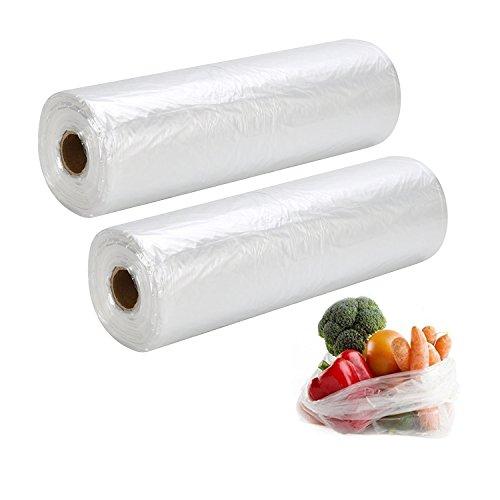 PAPRMA Clear Plastic Bags, 12