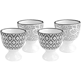 COM-FOUR ® 4x Ceramic Egg Cup in Scandinavian Design Diameter 5 cm Height 6 cm