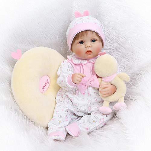 Bambole iCradle 16 pollici 42 cm Full Silicone Versione in vinile Reborn Baby Doll Realistici Bebe Reborn Dolls Giocattolo di simulazione per bambini Regali di compleanno (17pollici corpo in silicone)