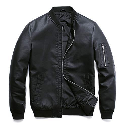 Lederen herenjas, zwart, motorfiets, kostuumjas, leer, herfst, racing, biker, casual, klassieke mantel, slim fit licht, motorfiets, top