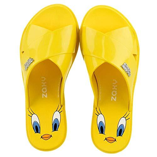 Zaxy Steckdosenleiste Damen Looney Tunes Thong 17762 Made in Brazil - 90073 Gelb, 38 EU