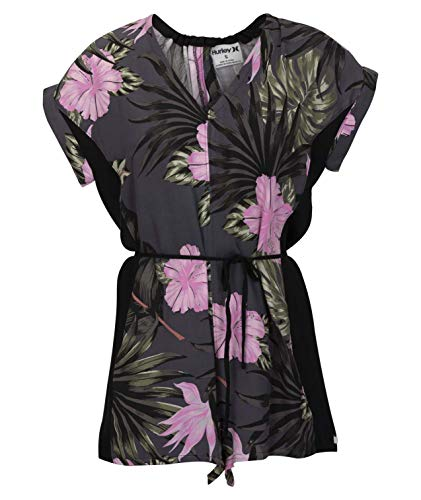 Hurley W Printed Woven Romper Robes Femme Anthracite FR: S (Taille Fabricant: S)