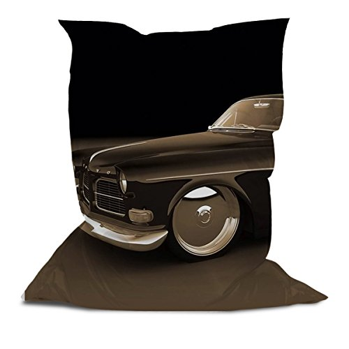 AAA Best Soft Cozy Comfortable Pillow Bean Bag Chair Lounger for Adults Kids Teens with Printed Vintage Car (3' x 4.4')