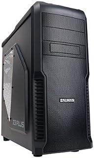 Zalman Z3 Plus Midi-Tower - Caja de ordenador de plástico y acero, ATX, Micro-ATX, Negro, 192 x 465 x 430 mm