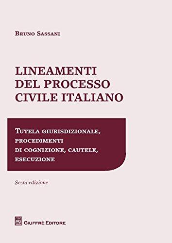 Lineamenti del processo civile italiano. Tutela giurisdizionale, procedimenti di cognizione, cautele, esecuzione