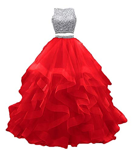 Women Red Carpet Event Evening Dresses Formal Ball Gown Prom Dress Red US16
