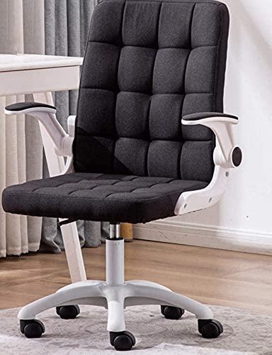 Renovation House Computerstuhl Komfortabler und stabiler moderner Bürostuhl mit klappbarer Armlehne Ergonomische Rückenlehne Executive Linen Chair Höhenverstellbar Belastbar 150 Kg (330 Lbs) Home Blue