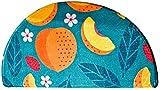 A-Generic Absorbente PAILESSON Medio Redondo DE Puertas DE Puerta DE Input La Estera Decorativa con un patrón de Dibujos Animados para el Interior al Aire Libre 60x90 cm-# 3_S 40x80 cm