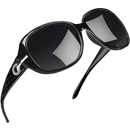 Joopin Gafas de Sol para Mujer Polarizadas de Moda Protección UV400 de Gran Tamaño Gafas de Sol para Señoras U9045