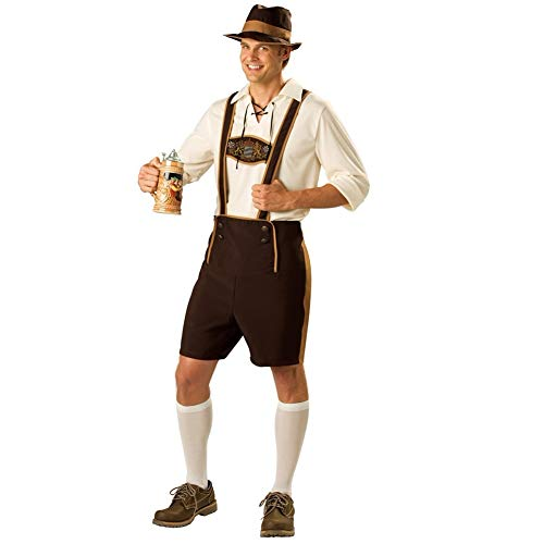 Top Totty Hombres Oktoberfest Bavarian Austriaco Lederhosen Cerveza Fancy Dress Costume