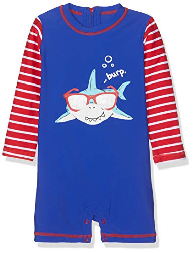 Hatley One-Piece Rash Guard Swimsuits Maillot, (Cool Shark), (Taille Fabricant: 6-9 Mois) Bébé garçon