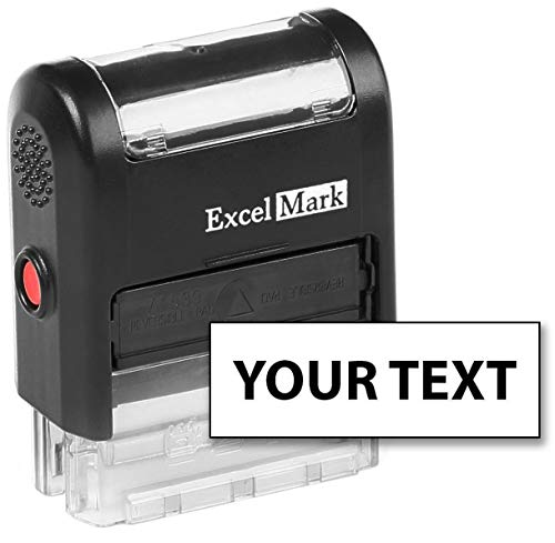 ExcelMark Custom Self Inking Rubber Stamp - Home or Office (A1539 - 1 Line with Bold Font)