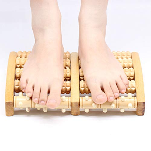 ZYQDRZ Foot Massager, Wooden Roller Massager, Used to Relieve Stress and Fatigue