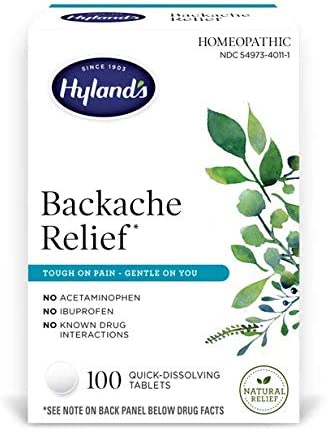 Hyland s Backache Natural Pain Relief for Upper and Lower Back Pain 100 Tablets product image