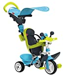 Smoby - 741200 - Tricycle Baby Driver Confort 2 - Tricycle Evolutif - Roues Silencieuses - Dispositif Roue Libre + Verrouillage Guidon - Bleu