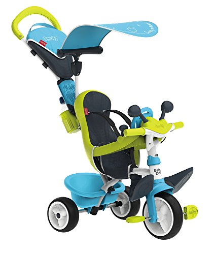 Smoby - 741200 - Tricycle Baby Driver Confort 2 - Tricycle Evolutif - Roues Silencieuses - Dispositif Roue Libre + Verrouillage Guidon...