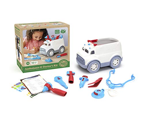 Green Toys- Ambulance & Doctor'S Kit Ambulancia Medico, Multicolor, 1 EA (AMDK-1313)