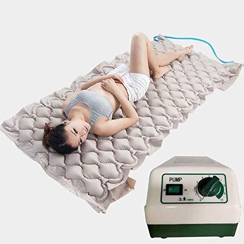 SUMBITOD Colchón antiescaras, Colchón de presión alterna, Incluye Bomba de Aire silenciosa eléctrica, 130 Celdas, para el Tratamiento de úlceras por presión y llagas por presión