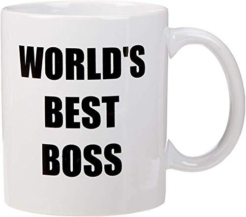 Bluegrass Mugs Funny World's Best Boss – 11 oz Coffee Mug, White