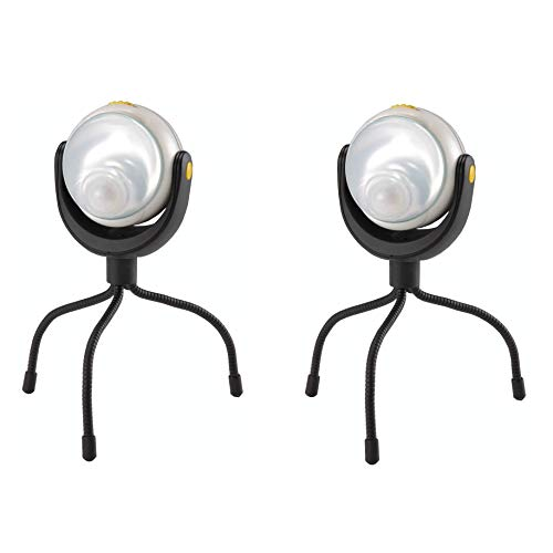2個セット ムサシ RITEX 「自由に曲がる三脚で様々な場所に取付可能! 」 LEDどこでもセンサーライト ASL-090