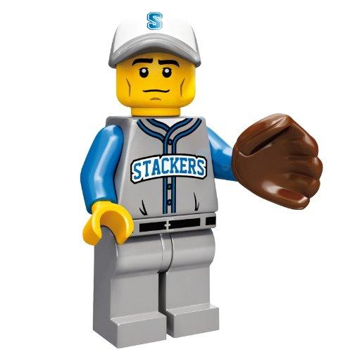 LEGO 71001 - Minifigur Baseball Feldspieler aus Sammelfiguren-Serie 10