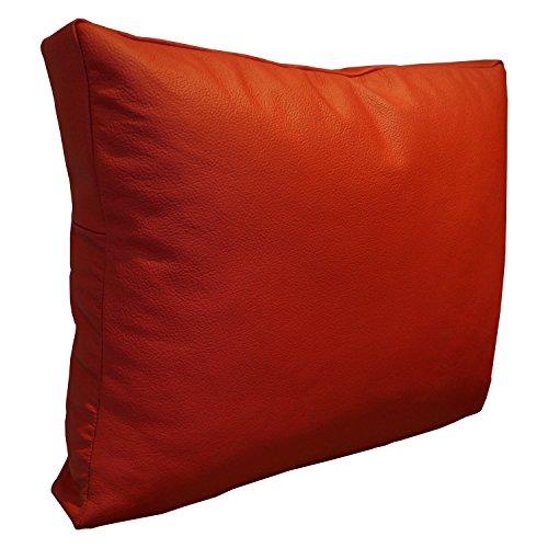 Rood echt lederen kussen sofa deco kussen echt leer rugkussen rundleer leer sierkussen model P&Z