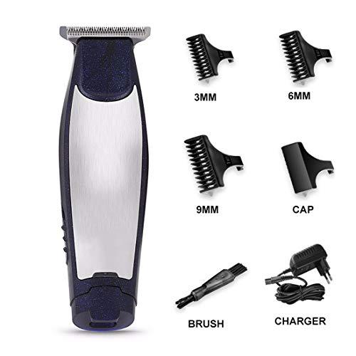 ZTJ-Lighting Professionnels Cheveux Clippers, sans Fil Tondeuses pour Hommes, Coupe de Cheveux électrique Rechargeable avec 3 Kits Toilettage Peignes Guide, pour Les Femmes Père Mère Petit ami