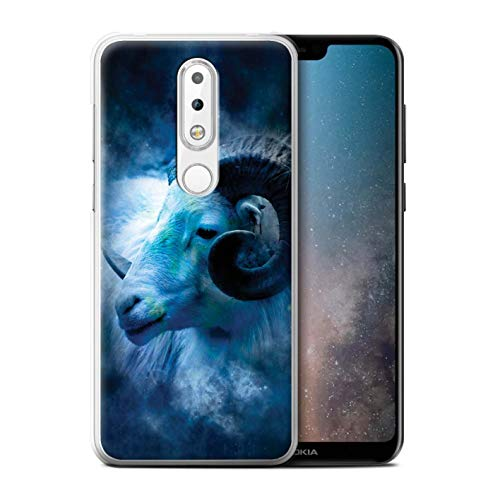 eSwish telefoonhoesje/Cover/Skin/NOKLUM-CC/Zodiac Star Sign Collection Nokia 6 Plus 2018 Aries/Ram