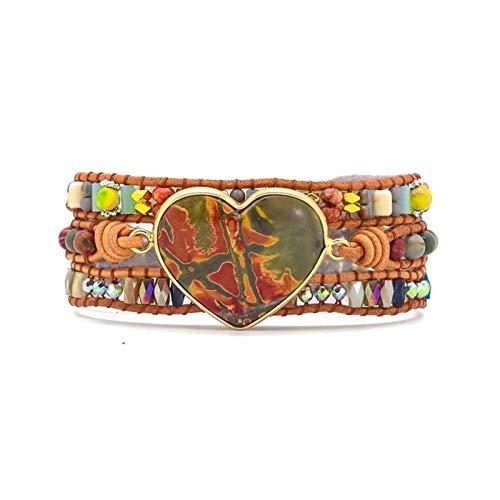 XYBB Boho Bracelets Nautural Stone Tibetan Beads Color Of Love Bracelet Jewelry Charm Bracelets For Women