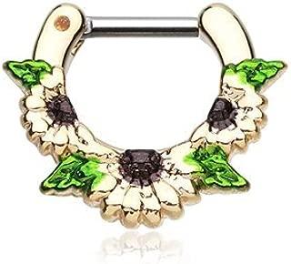WildKlass Jewelry Gold Septum Clicker 16g 1/4