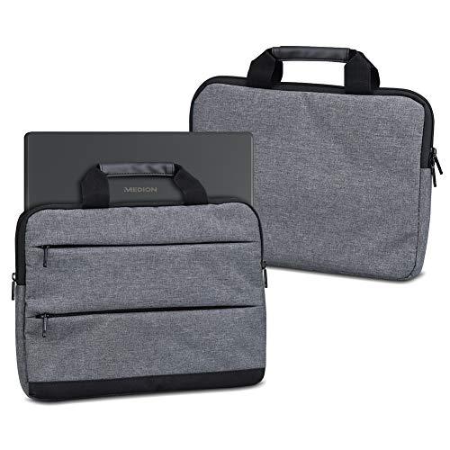 UC-Express Notebooktasche für Medion Erazer X7859 17,3 Zoll Sleeve Tasche Schutz Hülle Schutzcase Laptophülle Schutzhülle Hülle Cover, Farbe:dunkel Grau
