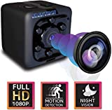 Mini Hidden Wireless Action Camera-Cop Cam-Outdoor Indoor Surveillance Cameras-Home Office Car Video Recorder-1080p HD Recording-1 Cubic Inch-Night Vision Nanny Camaras