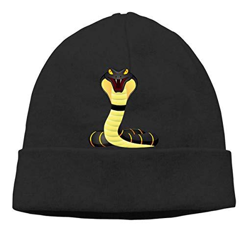 NA Skull Cap, Solid Headband King Cobra Snake Unisexe Beanie Hats Black