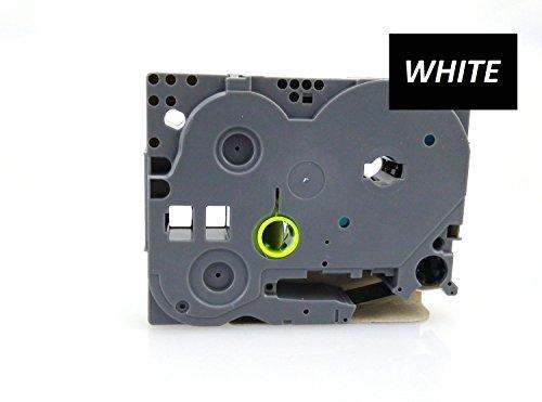 12mm larghezza laminato etichetta nastro per Brother P-Touch pt-1000. Bianco su nero. 8m di lunghezza. tze-335. Si veda la descrizione per una lista di stampanti compatibili. tz-335