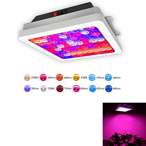 Lominie LED Grow Light, Full Spectrum 600W Double Chips Hydroponics Greenhouse Lighting for Indoor Grow Tent Plants Vegetable and Flower