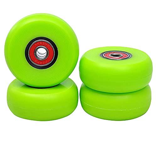 HJXX 8 piezas 58 mm rueda de acrobacias para patines en línea dureza 90A ABEC-9 rodamientos instalados rueda verde para patinaje de deriva y freestyle